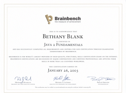 Brainbench - The Measure of Achievement